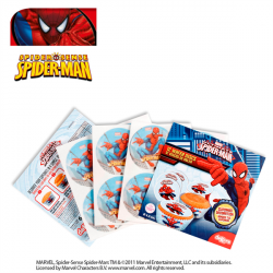 DISPLAY 18 BLISTER OBLEA SPIDERMAN 4,5CM