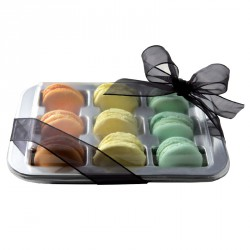 TRAY FOR MACARONS 19X4,2 CM (WITHOUT COVER)