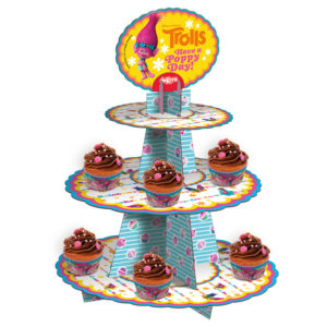 TROLLS CUPCAKE STAND 3 FLOORS car