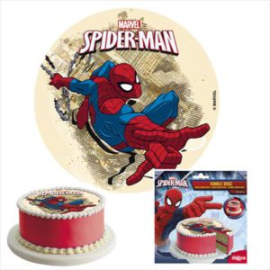 DISCO COMESTIBLE TARTA SPIDERMAN DEKORA