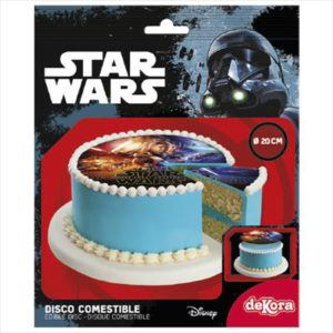 6 DISQUES COMESTIBLES 20CM STAR WARS