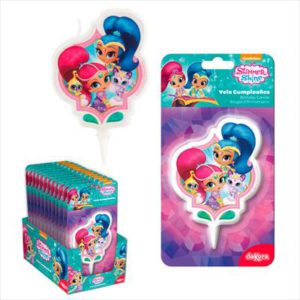 DISPLAY 12 VELAS 2D SHIMMER AND SHINE 7CM