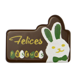 PLACA CHOCO RECTANGULAR PASCUA